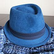 Аксессуары ручной работы. Ярмарка Мастеров - ручная работа Ультрамарин. Синяя шляпа для всех.. Handmade.
