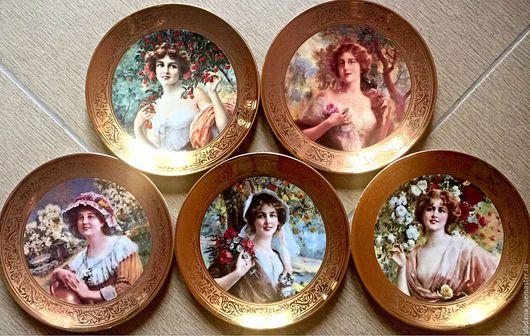 Винтажные предметы интерьера. Ярмарка Мастеров - ручная работа. Купить Декоративные тарелки Royal Worcester и Compton & Woodhouse. Handmade.