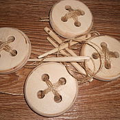 Куклы и игрушки ручной работы. Ярмарка Мастеров - ручная работа Эко игрушки. Пуговицы деревянные. Handmade.