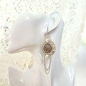 Украшения handmade. Livemaster - original item Earrings beaded steampunk