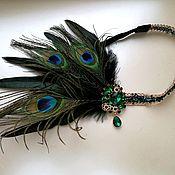 """Повязка на голову в стиле Гэтсби """"Peacock"""""""