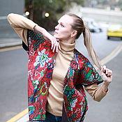 """Одежда ручной работы. Ярмарка Мастеров - ручная работа Валяный жилет- кимоно """"Яркие цветы"""". Handmade."""