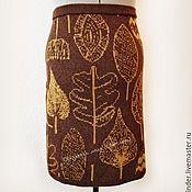 """Одежда ручной работы. Ярмарка Мастеров - ручная работа Вязаная юбка """"Листья"""". Handmade."""