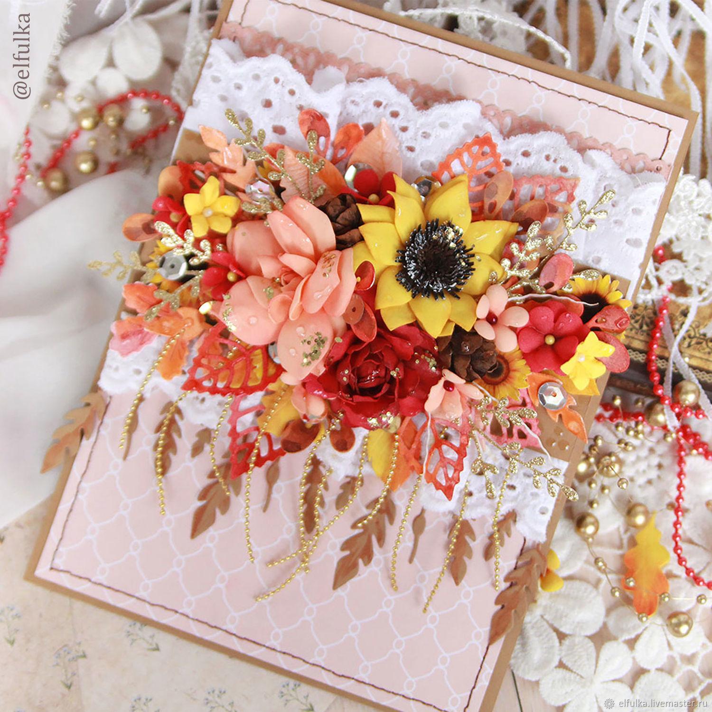 Коралловой свадьбой, флористические открытки ручной