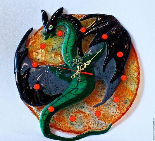 Часы для дома ручной работы. Ярмарка Мастеров - ручная работа. Купить Часы настенные Дракон Дракончик Дракоша купить в подарок. Handmade.