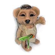 Куклы и игрушки ручной работы. Ярмарка Мастеров - ручная работа Ёжик. А скорее ежичка с морковкой.. Handmade.