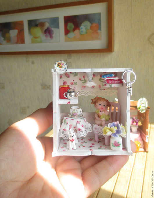Миниатюра ручной работы. Ярмарка Мастеров - ручная работа. Купить Кукольный домик для кукол . Для кукол любого  размера. Handmade.