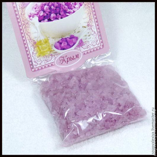 """Соль для ванны ручной работы. Ярмарка Мастеров - ручная работа. Купить """"Шалфей"""" Ароматическая Соль. Handmade. Бледно-розовый, соль"""