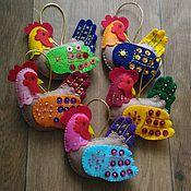 Подарки к праздникам ручной работы. Ярмарка Мастеров - ручная работа Петушки, ёлочные игрушки. Handmade.