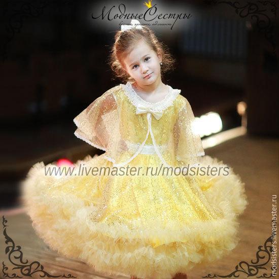 Baby dress 'Queen' with a Cape (gold) Art.-104, Childrens Dress, Nizhny Novgorod,  Фото №1