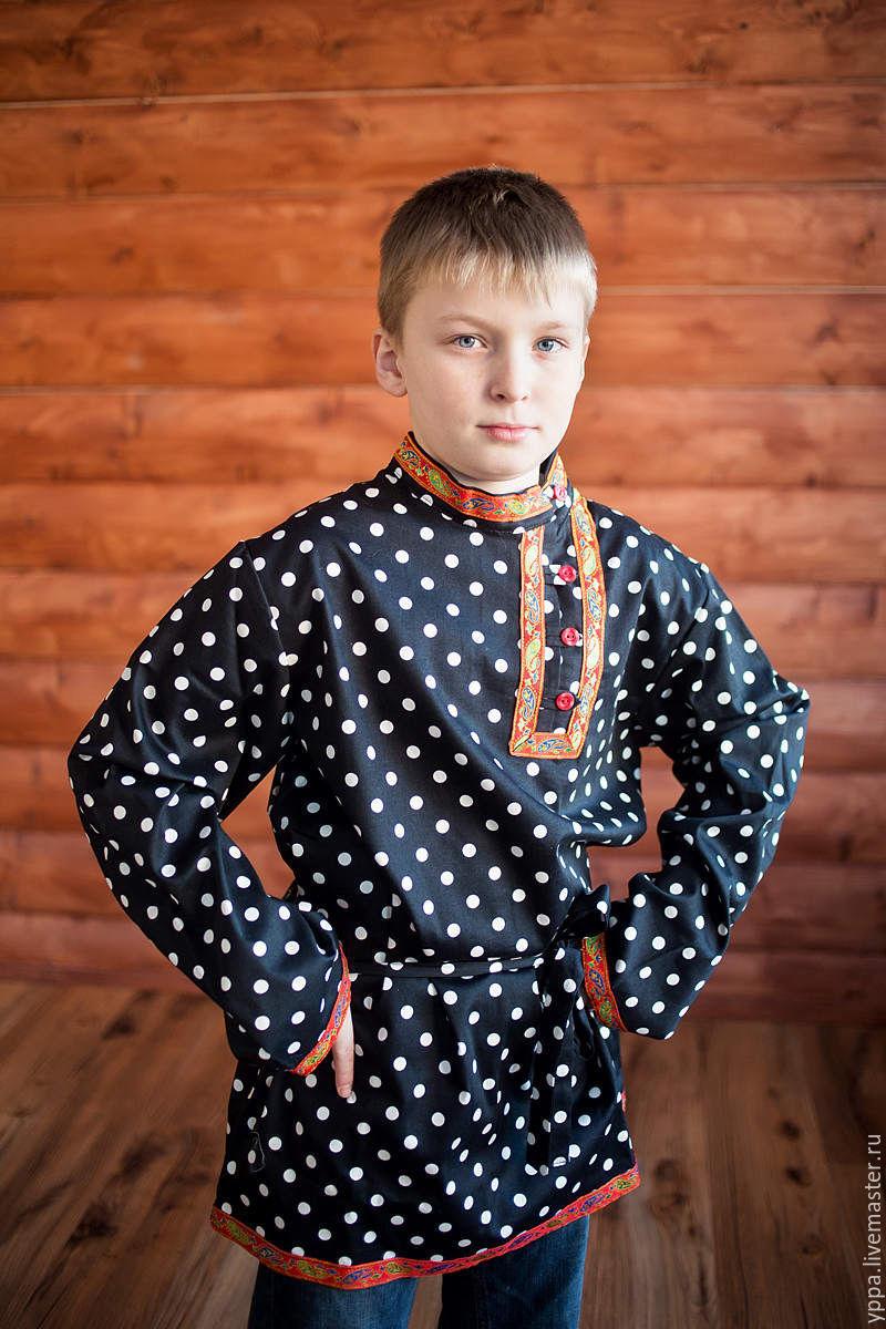"""Косоворотка хлопок """"Кузя"""", Народные костюмы, Королев, Фото №1"""