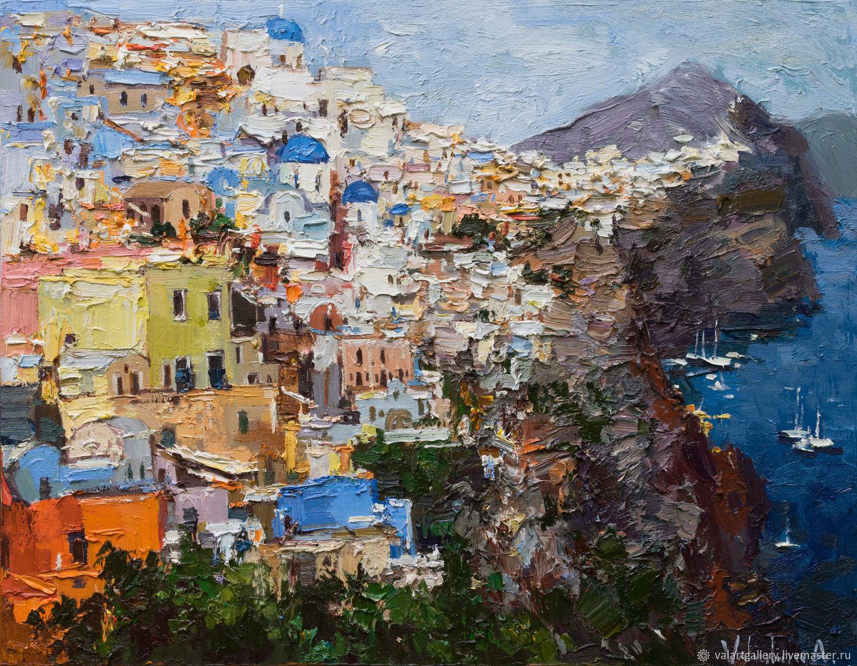 Santorini, Greece - Original landscape painting, Pictures, Anapa,  Фото №1