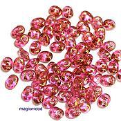 Материалы для творчества handmade. Livemaster - original item 5g country of origin: Czech LK00030 2,5h5 mm, Superduo gloss pink Czech beads. Handmade.