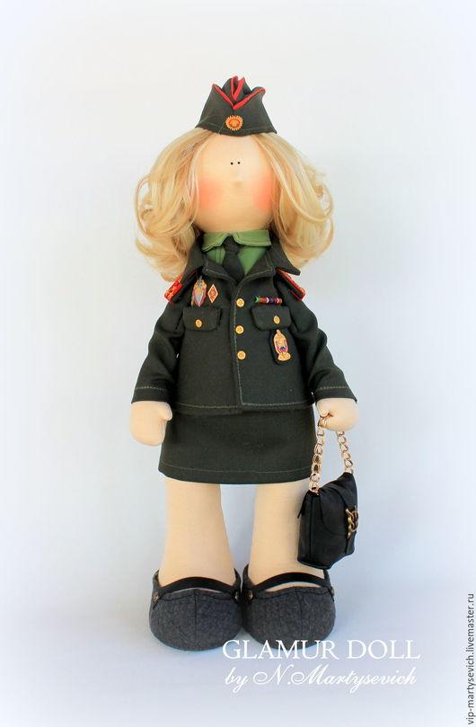 Коллекционные куклы ручной работы. Ярмарка Мастеров - ручная работа. Купить Интерьерная текстильная кукла. Handmade. Розовый