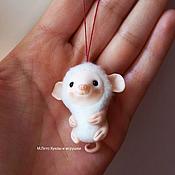 Куклы и игрушки ручной работы. Ярмарка Мастеров - ручная работа Мышка белая. Handmade.