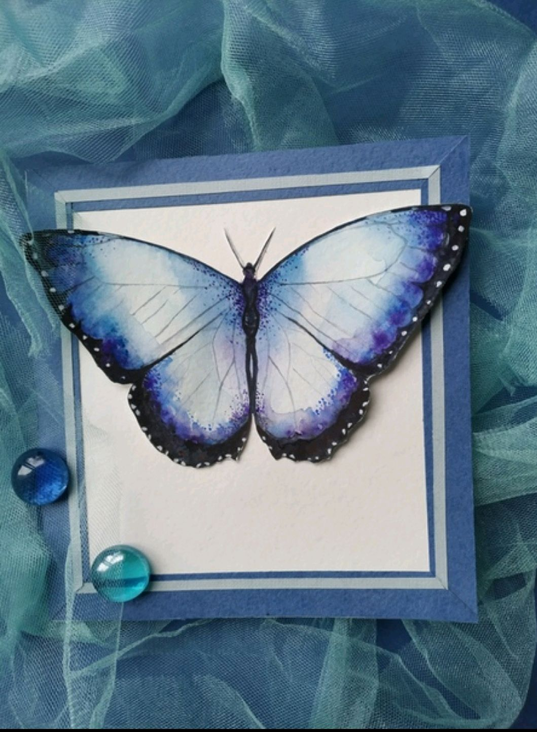 Обьемная открытка с бабочкой, Открытки, Воронеж,  Фото №1