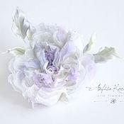 Свадебный салон ручной работы. Ярмарка Мастеров - ручная работа Украшение для невесты - цветок в прическу.Сиреневый.Цветы из шелка. Handmade.