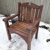 Для дома и интерьера ручной работы. Ярмарка Мастеров - ручная работа Садовое кресло из дуба. Handmade.