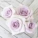 Заколки ручной работы. Ярмарка Мастеров - ручная работа. Купить Набор шпилек с розами - Сиреневые (4 шт). Handmade.
