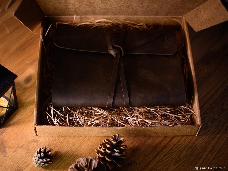 Блокнот из кожи ручной работы со сменными тетрадями А5 цвет Шоколад, Блокноты, Тула,  Фото №1