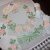 Свадебный салон ручной работы. Ярмарка Мастеров - ручная работа Набор венчальный-5 предметов. Handmade.