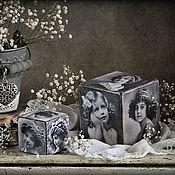 """Для дома и интерьера ручной работы. Ярмарка Мастеров - ручная работа Кубики """"Очарование минувших  лет"""". Handmade."""