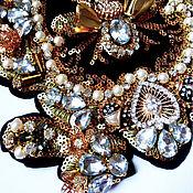 Материалы для творчества handmade. Livemaster - original item Designer gold Crown applique. Handmade.