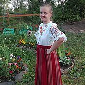 Одежда handmade. Livemaster - original item The skirt is woven, traditional ornament.. Handmade.
