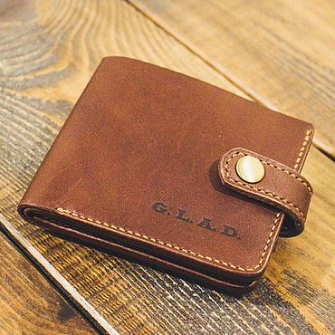 Bags and accessories handmade. Livemaster - original item Brown leather wallet purse. Handmade.
