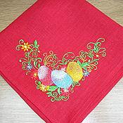 Для дома и интерьера ручной работы. Ярмарка Мастеров - ручная работа салфетка пасхальная. Handmade.