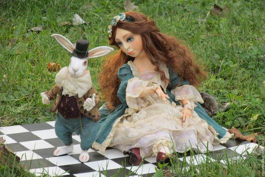 Коллекционные куклы ручной работы. Ярмарка Мастеров - ручная работа. Купить Алиса. Handmade. Тёмно-зелёный, винтажный стиль, Ладолл