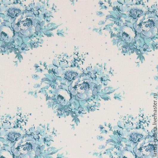 Шитье ручной работы. Ярмарка Мастеров - ручная работа. Купить Ткань Тильда Summer Floral Blue On White. Handmade.