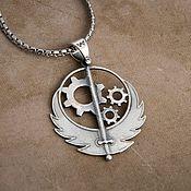 Украшения handmade. Livemaster - original item The Brotherhood Of Steel Pendant. Brotherhood of Steel.  Fallout. brass silver.. Handmade.