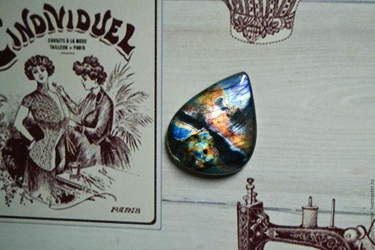 Для украшений ручной работы. Ярмарка Мастеров - ручная работа. Купить Лабрадорит спектролит. Кабошон 35 Х 27 Х 6. Handmade.