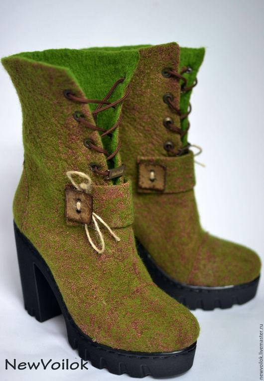 Обувь ручной работы. Валяные ботильоны. NewVoilok. Ярмарка мастеров. Демисезонная обувь. Женская обувь. Стильные ботинки.