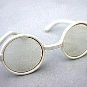 Материалы для творчества ручной работы. Ярмарка Мастеров - ручная работа очки для кукол пластик со стеклом D3cv. Handmade.