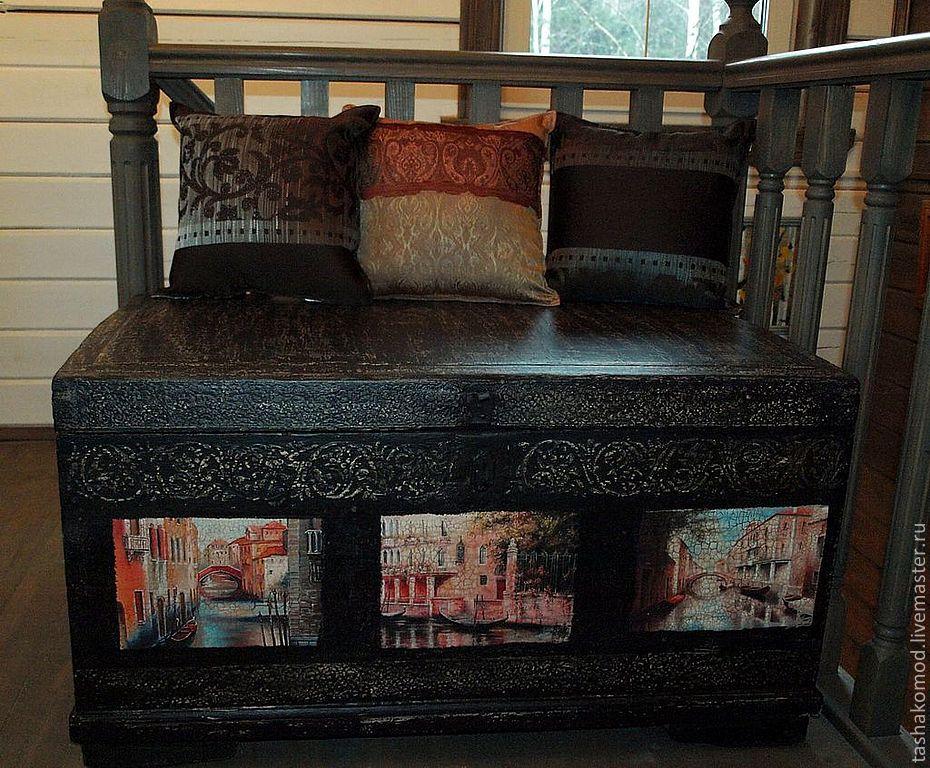 """Купить Проект """"Венеция"""". Сундук (реставрация) - Мебель, комод, сундук, реставрация мебели, авторская мебель"""