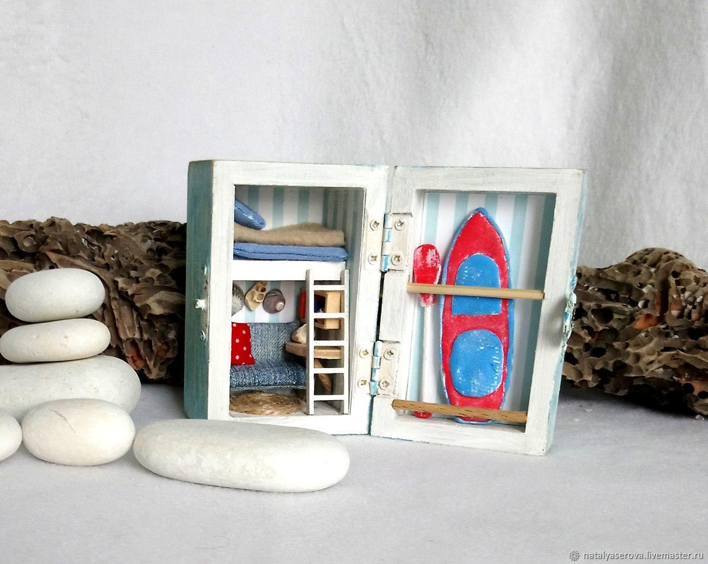 """""""Пляжный домик сёрфера"""" сундучок, Кукольные домики, Краснодар,  Фото №1"""