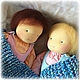 Вальдорфская игрушка ручной работы. Большая кукла-младенец (с вшитыми ручками) 40 см. Alla  (Waldorf doll&toy). Ярмарка Мастеров.