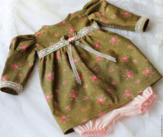 """Одежда для кукол ручной работы. Ярмарка Мастеров - ручная работа. Купить Комплект одежды для куклы 38- 40 см """"Английские розы"""". Handmade."""