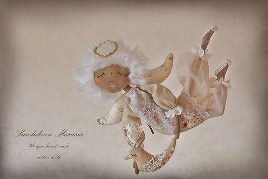 """Ароматизированные куклы ручной работы. Ярмарка Мастеров - ручная работа. Купить """"Ангел-мальчик летящий"""" - авторская кофейная куколка. Handmade."""