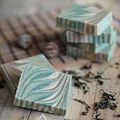 """Косметика ручной работы. Ярмарка Мастеров - ручная работа """"Зеленый чай"""" тонизирующее натуральное мыло. Handmade."""