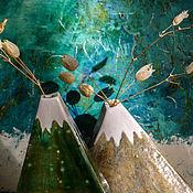 Для дома и интерьера ручной работы. Ярмарка Мастеров - ручная работа Ваза Гора, серия Заилийский Алатау. Handmade.