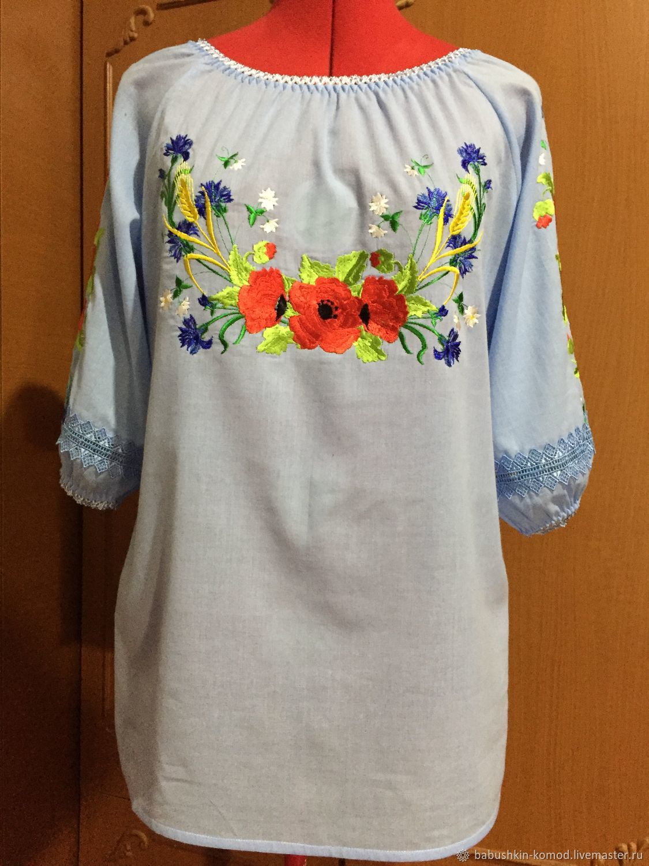 Women's embroidered blouse 'Russian Summer' ZHR2-172, Blouses, Krasnodar,  Фото №1
