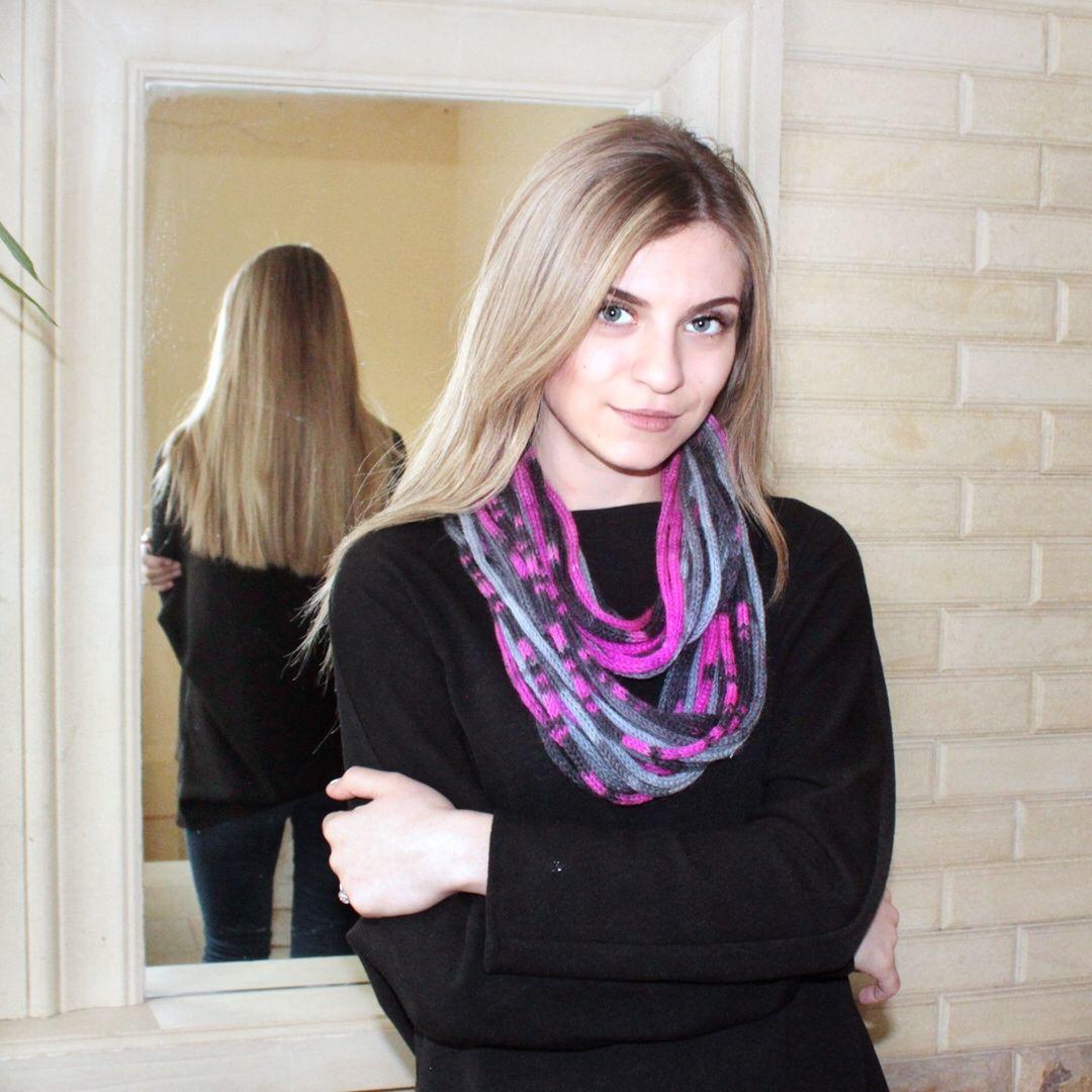 "Шарфобусы ""Серый и фуксия"", Шарфы, Москва,  Фото №1"