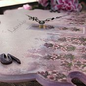 Для дома и интерьера ручной работы. Ярмарка Мастеров - ручная работа часы настенные декупаж лавандовая акварель. Handmade.