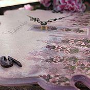 Для дома и интерьера ручной работы. Ярмарка Мастеров - ручная работа часы настенные декупаж лавандовая сиреневая акварель. Handmade.