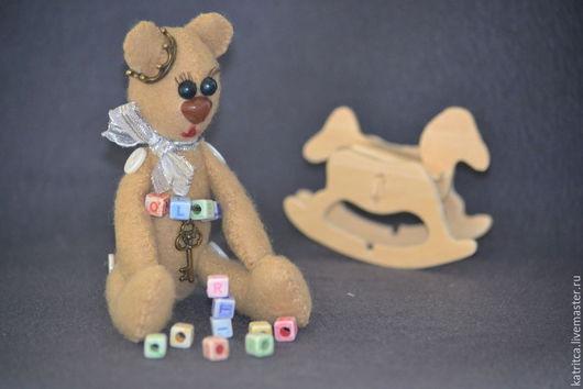 Игрушки животные, ручной работы. Ярмарка Мастеров - ручная работа. Купить Медвежонок-малышонок. Handmade. Бежевый, декоративные элементы