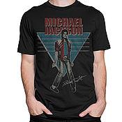 "Одежда handmade. Livemaster - original item Футболка хлопковая ""Майкл Джексон - Beat It"". Handmade."