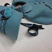 Работы для детей, handmade. Livemaster - original item coat and bonnet blues
